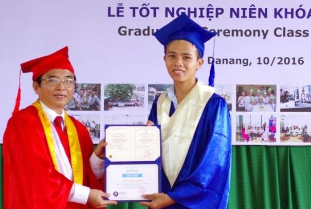 Dien on his graduation day