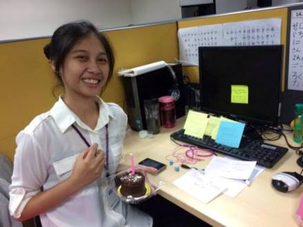 Rose Mar's in her working environment at Accenture