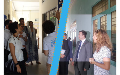 The French Ambassadors are visiting our centers